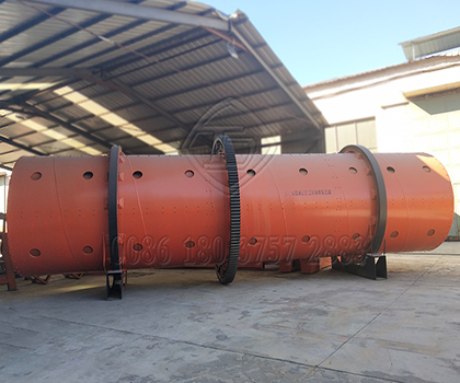 Rotating granulator for large scale organic fertilizer manufacturer