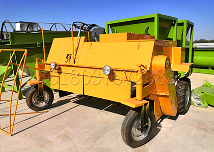 Small Scale Movable Compost Turner for small capacity production line